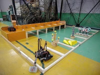 ロボット競技コート完成.jpg